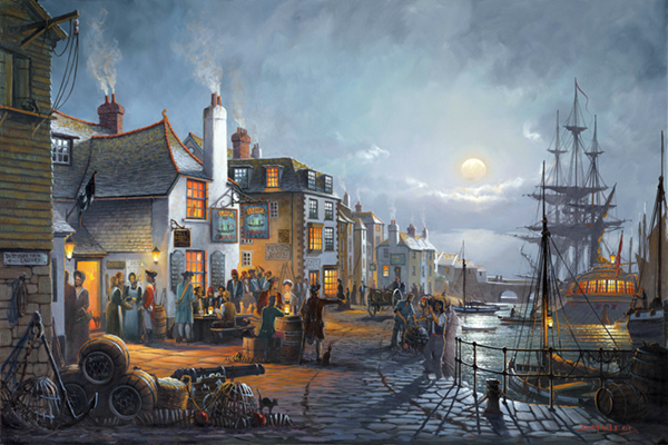 Donald Macleod painting of The Sloop Inn, St Ives, Cornwall