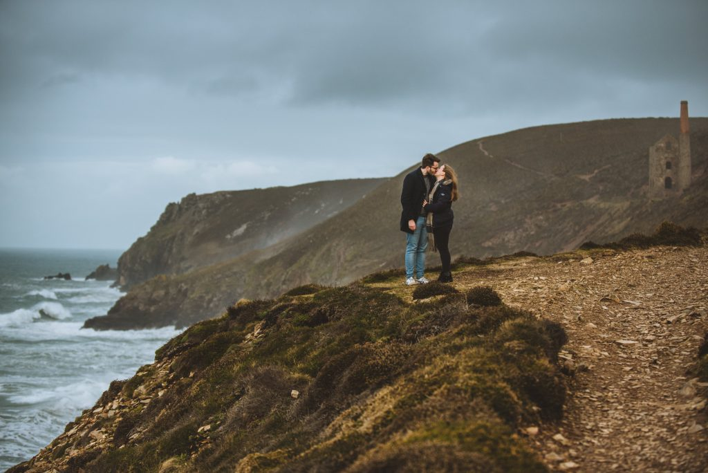 Engagement Photograph in Cornwall taken by Mark Shaw Photography