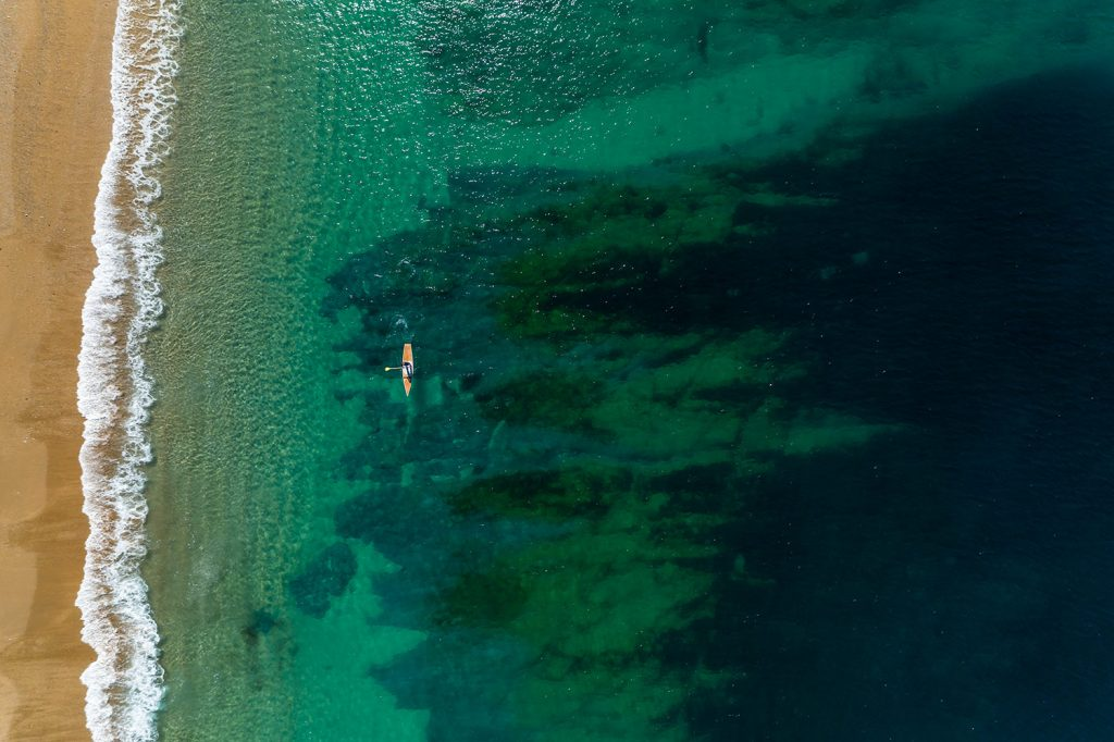 SUP in Porthleven, Cornwall
