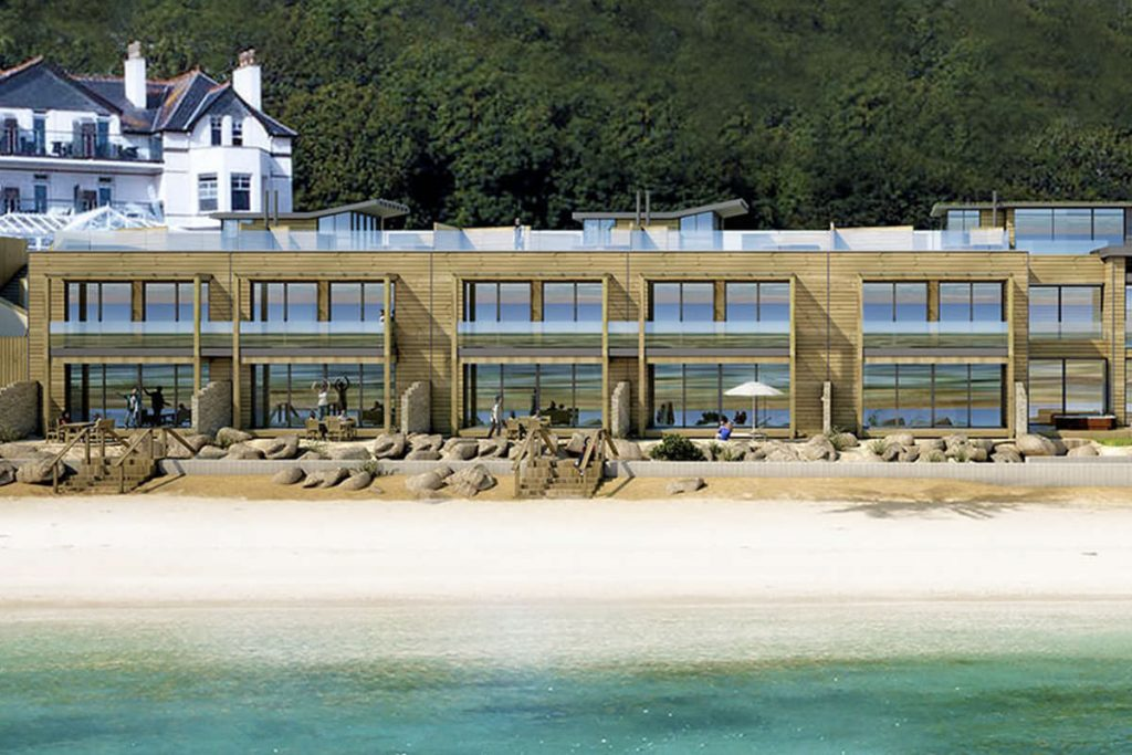 Luxury Deluxe Beach Lodge, Carbis Bay, St Ives, Cornwall